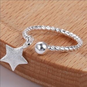 Braided Open Band Dainty Knuckle Rings Toe Ring